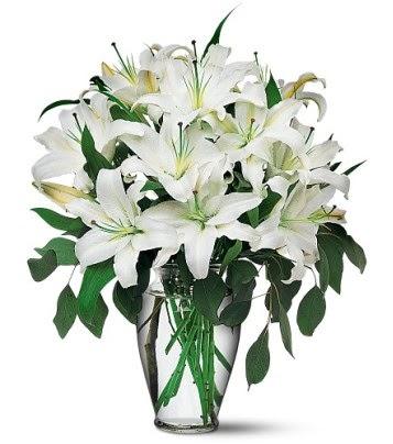 Ankara internetten çiçek satışı  4 dal kazablanka ile görsel vazo tanzimi