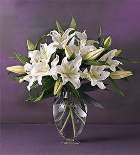 Ankara İnternetten çiçek siparişi  4 dal cazablanca vazo çiçeği