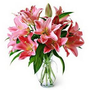 3 dal kazablanka görsel vazosu  Ankara internetten çiçek siparişi