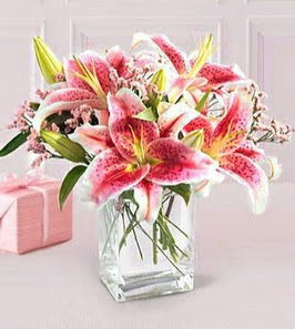 2 dal kazablanka görsel vazosu  Ankara çiçek siparişi sitesi