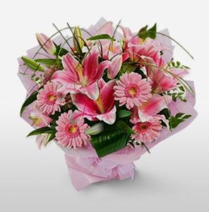 1 dal kazablanka ve kır çiçek görsel buketi  Ankara internetten çiçek satışı