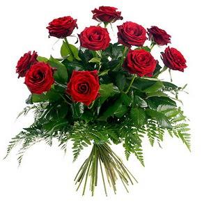 Ankara çiçek gönderme  10 adet kırmızı gülden buket