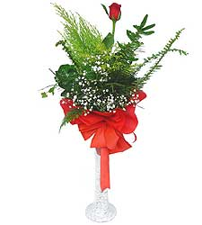 Ankara anneler günü çiçek yolla  Cam vazoda masum tek gül