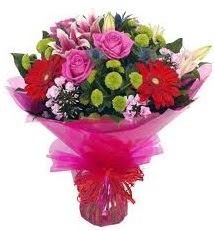 Karışık mevsim çiçekleri demeti  Ankara online çiçek gönderme sipariş