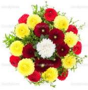 Ankara çiçekçi mağazası  13 adet mevsim çiçeğinden görsel buket