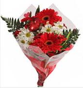 Mevsim çiçeklerinden görsel buket  Ankara çiçekçiler
