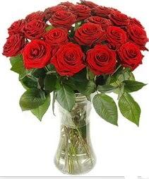 Ankara çiçek mağazası , çiçekçi adresleri  Vazoda 15 adet kırmızı gül tanzimi