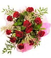 12 adet kırmızı gül buketi  Ankara 14 şubat sevgililer günü çiçek