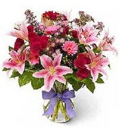 Vazo içerisinde karışık mevsim çiçeği  Ankara çiçek siparişi sitesi