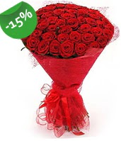 51 adet kırmızı gül buketi özel hissedenlere  Ankara çiçek siparişi sitesi