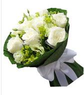 9 adet beyaz gül buketi  Ankara çiçek siparişi sitesi