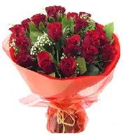12 adet görsel bir buket tanzimi  Ankara çiçek siparişi vermek