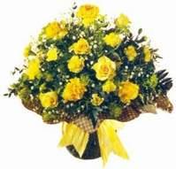 Ankara çiçek , çiçekçi , çiçekçilik  Sari gül karanfil ve kir çiçekleri