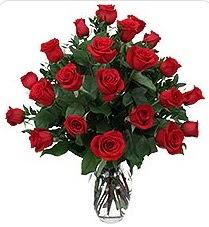 Ankara çiçek siparişi sitesi  24 adet kırmızı gülden vazo tanzimi