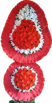 Ankara online çiçek gönderme sipariş  Çift katlı kaliteli düğün açılış sepeti