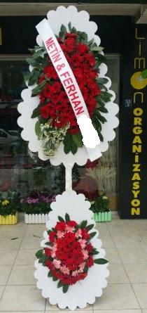 Çift katlı düğün nikah çiçeği modeli  Ankara çiçek siparişi sitesi