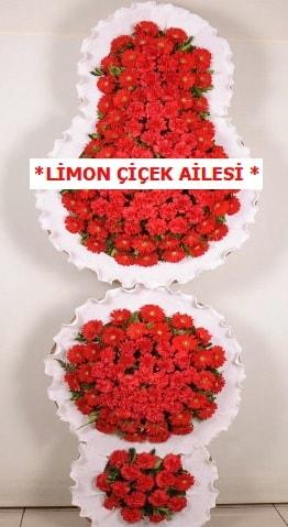 3 katlı kırmızı düğün açılış çiçeği  Ankara çiçek gönderme