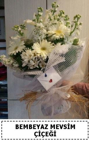 Bembeyaz görsel mevsim çiçek buketi  Ankara çiçek yolla