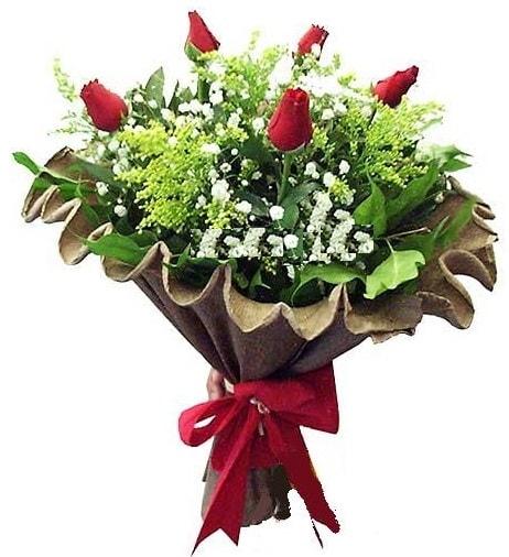 5 adet gülden buket  Ankara çiçek gönderme sitemiz güvenlidir