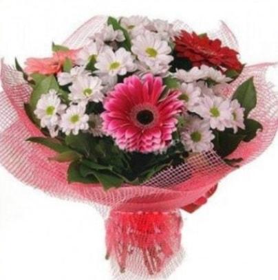 Gerbera ve kır çiçekleri buketi  Ankara internetten çiçek siparişi