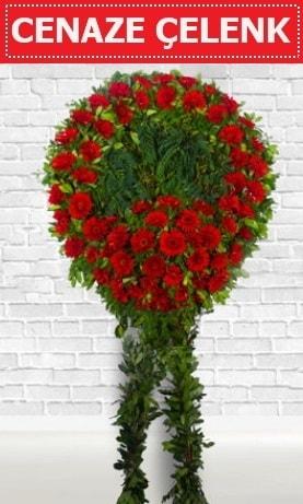 Kırmızı Çelenk Cenaze çiçeği  Ankara İnternetten çiçek siparişi