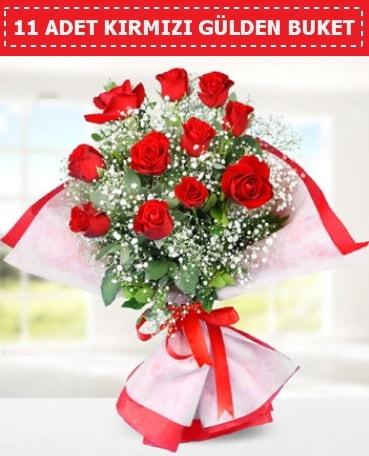 11 Adet Kırmızı Gül Buketi  Ankara internetten çiçek siparişi