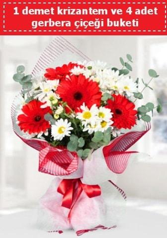 Krizantem ve Gerbera Buketi  Ankara çiçek siparişi sitesi